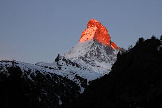 Sonnenaufgang Matterhorn, Zermatt, Schweiz Urlaub