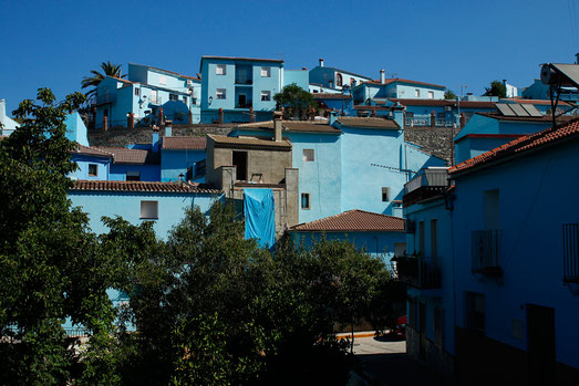 Júzcar, Andalusia, Spain, blue village