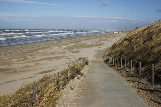 Zandvoort am Meer, Strand in Holland, Nordsee Holland
