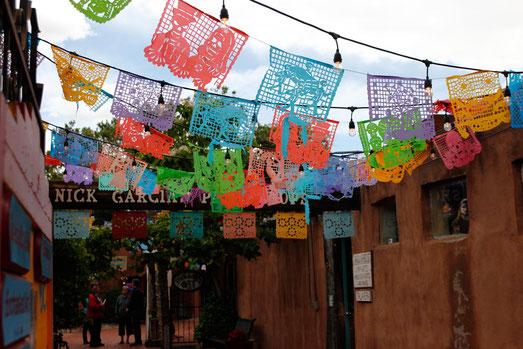 Downtown Albuquerque, colorful art, New Mexico
