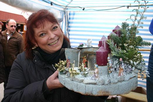 Entdeckt am Andreasmarkt in Gföhl: Gestecke, erzeugt von Stefanie Pachschöll aus Kottes, 0664 388 4133