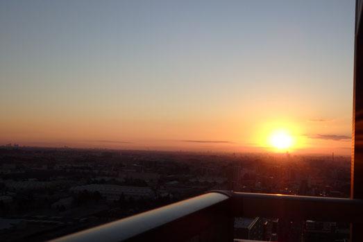 相模原市 天空のサロンさまを照らす朝日