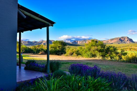 Blick auf die Swartberge von der Thabile Lodge
