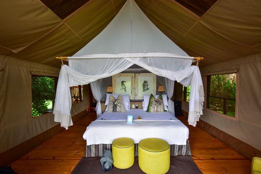 Unterkunft im Pafuri Camp - Luxuszelt