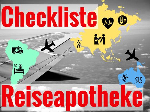 Checkliste Reiseapotheke