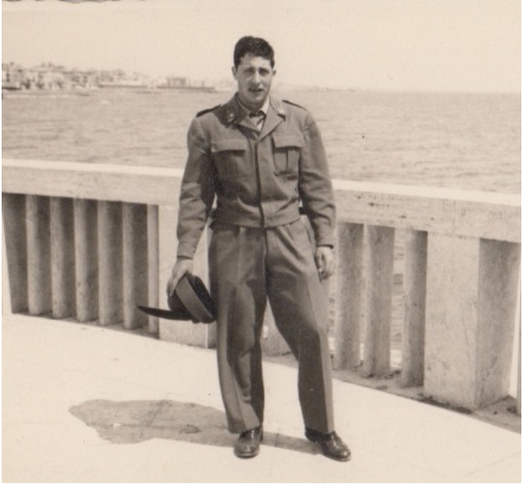 "Vinicio during his military service at the military corps of the ""Alpini""."