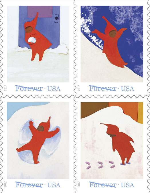 The Wonder of Snow on a Forever Stamp