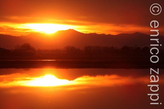 Saline di Cervia 7 gennaio 2012 - Tramonto