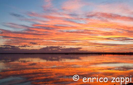 Piallassa della Baiona: luci del tramonto.