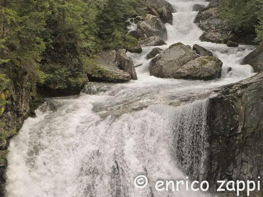 La seconda cascata a Riva di Tures