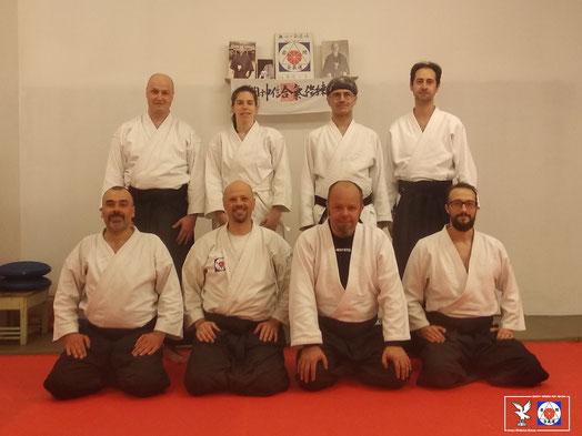 Alcuni dei partecipanti al Ronin Club Keiko del 23 novembre a Plasencis.