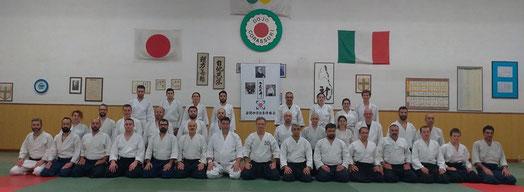 Foto di gruppo dei partecipanti al keiko di sabato pomeriggio.