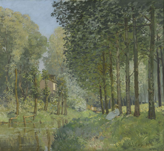 Rest along the Stream. Edge of the Wood, 1878