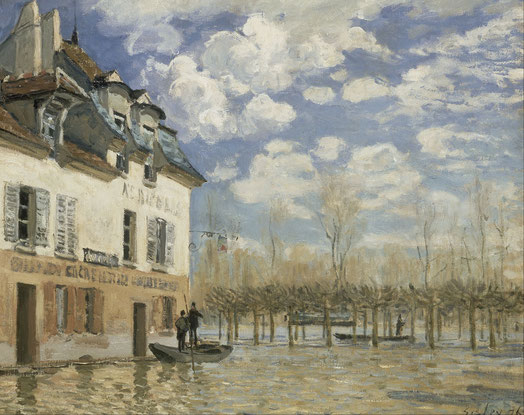 Flood at Port-Marly, 1876.
