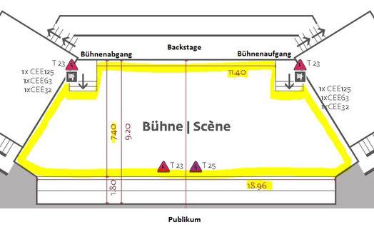 Bühnenplan Kongresshaus Biel