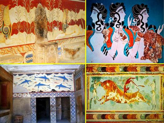CULTURA CRETENSE. En Creta se dan más de 6.000 años ininterrumpidos sin guerras. Fue el último lugar en el que la cultura de la Vieja Europa permaneció intacta (hasta finales de la Edad del Bronce).