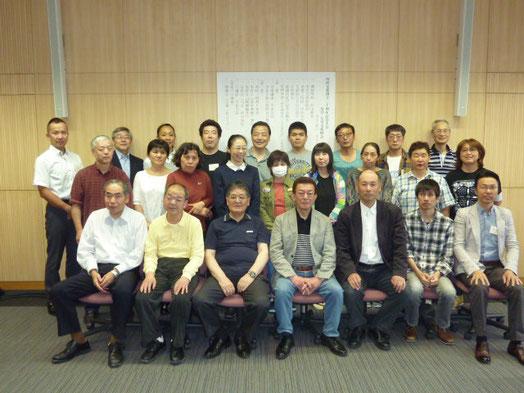 記念写真 *最前列 右から4番目が中田会長 右から3番目が院長