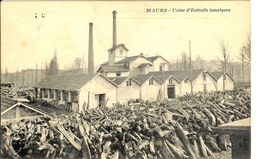 Usine à tanin de châtaignier - Maurs (Cantal) - Vers 1905.