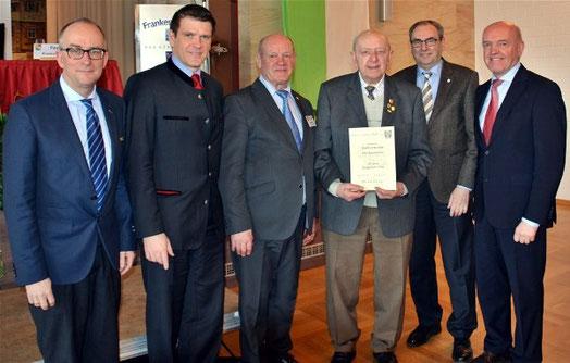 65 Jahre Aktives Singen - Ehrung des Vorsitzenden Reinfried Dürer