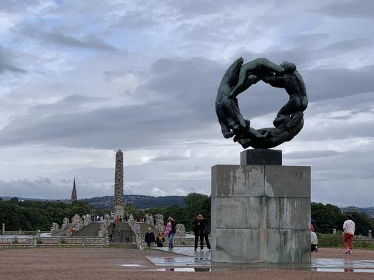 Norwegen, Oslo, Frognerpark, Vigeland Park, Skulpturen, Kunst, Bronze, rad des Lebens