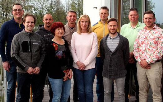 von links: Hans Beer, Marco Schönberger, Annette Rebhan, Horst Blascyk, Alexander Mrosek, Mathias Bayerl, Rebecca Beer, Dorle Praller, Andrea Dippold
