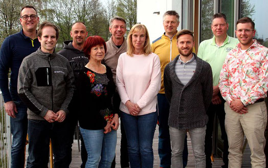 von links: Marco Schönberger, Dorle Praller, Rebecca Beer, Alexander Mrosek, Annette Rehban, Horst Blasczyk, Andrea Dippold, Hans Beer, nicht im Bild Mathias Bayerl