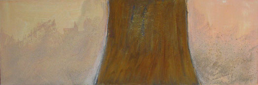 Nr. 2010-HO-33: 120 x 50 cm, Acryl, Strukturmasse, Rosteffekt auf Leinwand