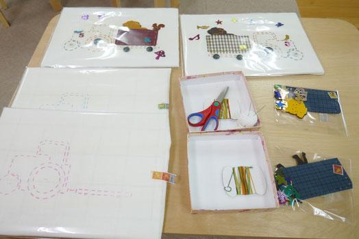 幼稚園児クラスの年長の生徒が取り組む卒業製作として、オリジナルの刺しゅうキットを用意しました。