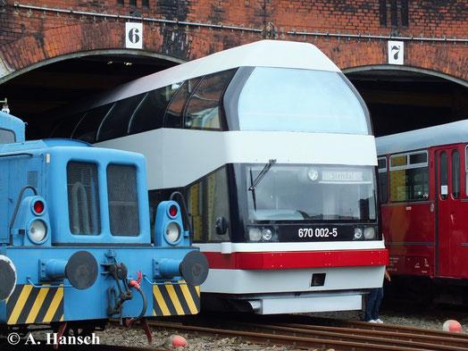 """Am 15. September 2014 ist der Triebwagen optisch perfekt aufgearbeitet und vom Vorhaben """"Ersatzteilspender"""" wurde sich längst distanziert"""