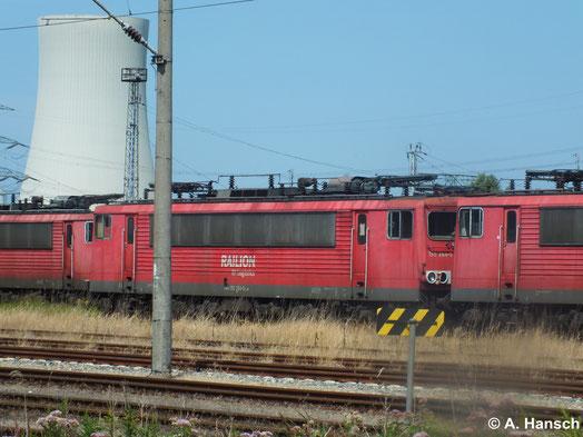 155 264-5 steht am 22. Juli 2014 in Rostock Seehafen z-gestellt