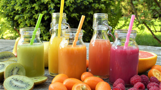 Gesunde Ernährung, Saftkur mit Obst und Gemüse Trockene Augen/Sicca Syndrom