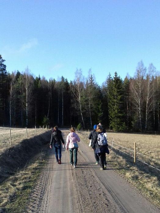 Rückweg zu Fuß