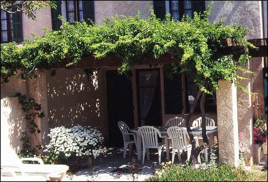 terrace of gite