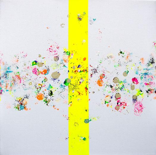 """Titel: """"FOREVER BLOND"""" (2018), 40 cm x 40 cm"""