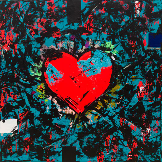 "Titel: ""POPHEART #3"" (2017), 40 cm x 40 cm"