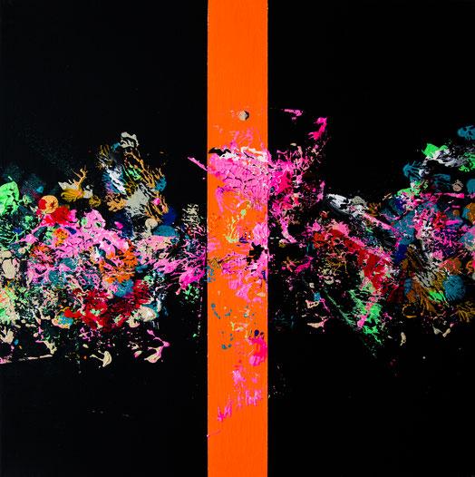 "Titel: ""FAREWELL SUPERNOVA (TSCHÜSS)"" (2017), 40 cm x 40 cm"