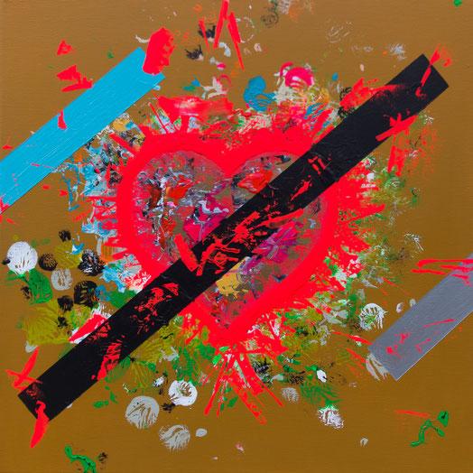 "Titel: ""POPHEART #4"" (2017), 40 cm x 40 cm"