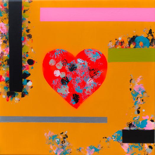 "Titel: ""POPHEART #5"" (2017), 40 cm x 40 cm"