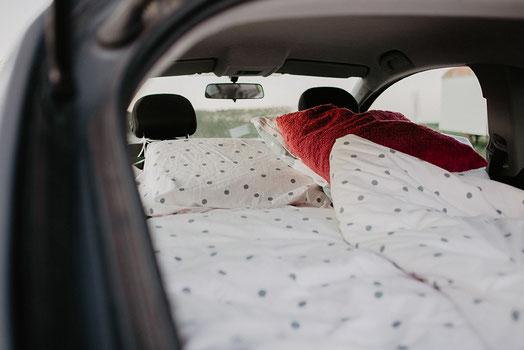 Bett im Auto Micro Camping