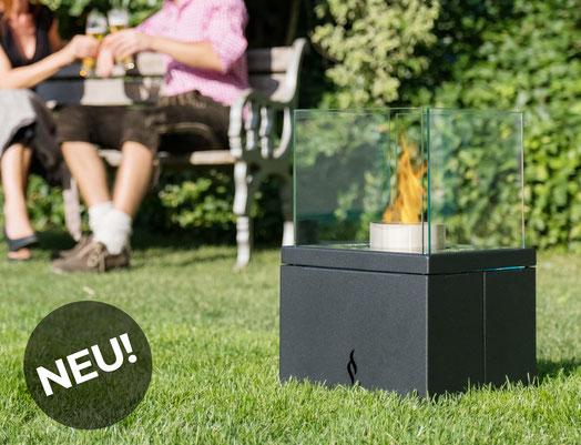 Pelmondo Feuermöbel Pellets heater heizen wärme feuer pelletsbetrieben glasscheibe garten terrasse haus garten