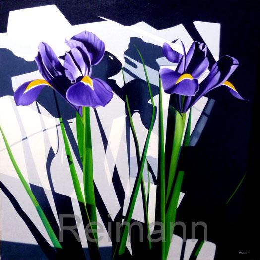 Ölbild Iris und Schatten