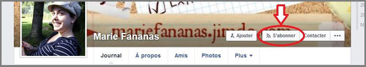 image profil facebook Marie Fananas écrivain