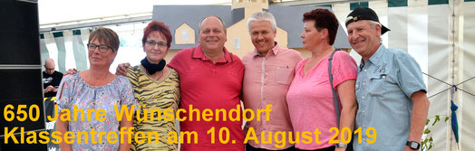 Bild: Wünschendorf Erzgebirge  Klassentreffen 650 Jahre
