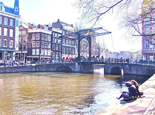 Städtereise Amsterdam, älteste Zugbrücke der Stdt