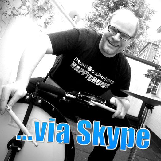 Schlagzeug, Cajon... via Skype-Online-Unterricht von zuhause aus lernen