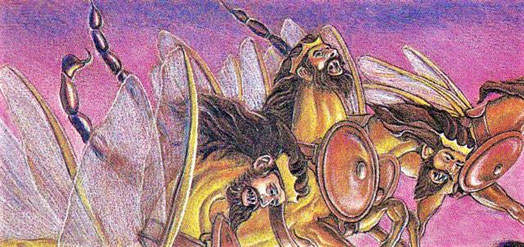 Une armée de sauterelles munies de dents de lions, de cuirasses de fer et de dards de scorpion sont apparues dans ces ténèbres spirituelles pour délivrer sur toute la terre un message qui causera bien des tourments à ceux qui s'opposent à Dieu.