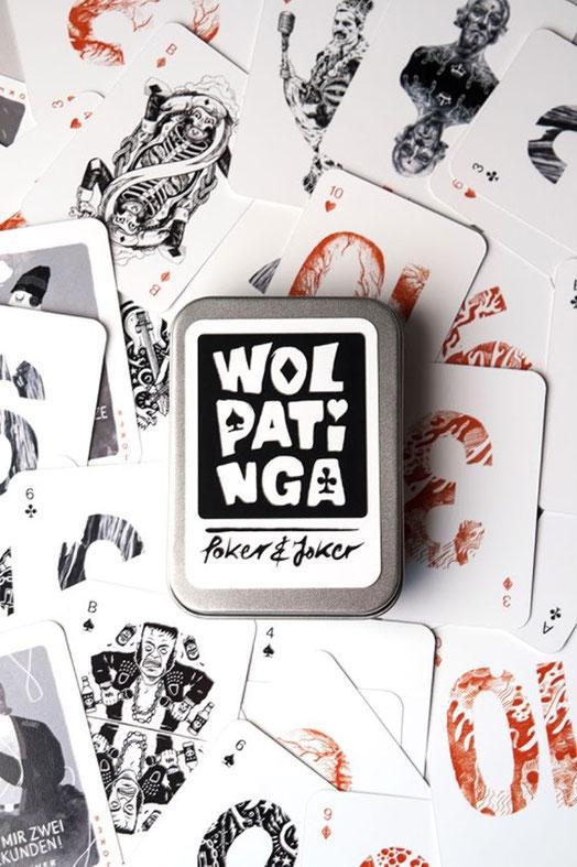 Wolpatinga Poker & Joker Kartenspiel Produktfoto.