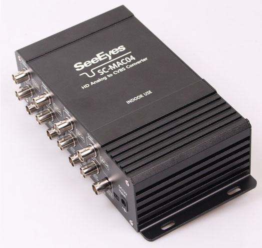 HDアナログ ⇒  アナログ変換コンバーター 4CH用 (SC-MAC04) 製品写真