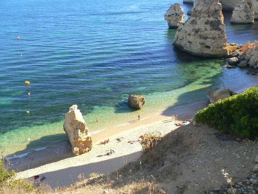 Praia da Marinha (Ausschnitt) von oben