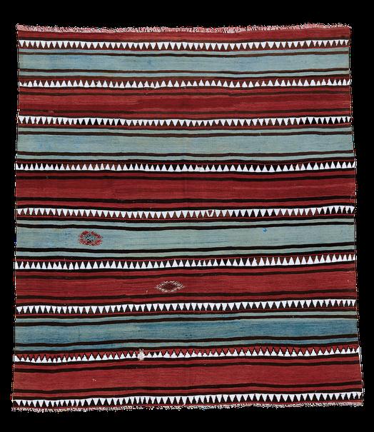 Teppich. Zürich. Vintage Sivas Kilim. Handgewebter Teppich, Kelim aus Turkey.